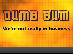 Dumb Bum Banner for Dumb Bum Big Bang Zone