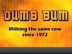 Dumb Bum Banner for Dumb Bum Central Zone