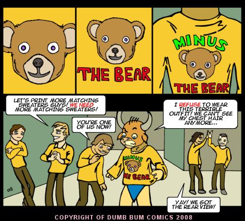 Dumb Bum Comics Minos the Minotaur comic strip #68 Orange is good for you