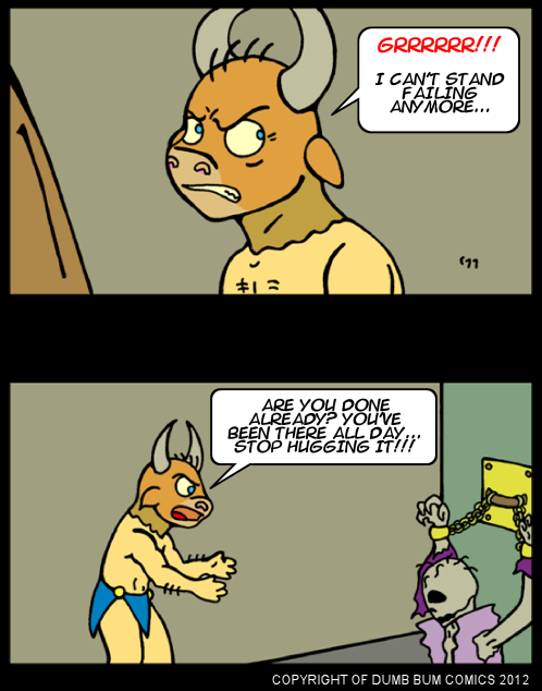 Dumb Bum Comics Minos the Minotaur comic strip